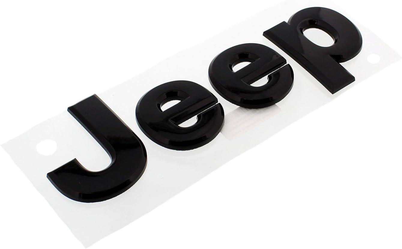 2014-2018 Jeep Grand Cherokee Black Out Emblem Nameplate Set Mopar OEM