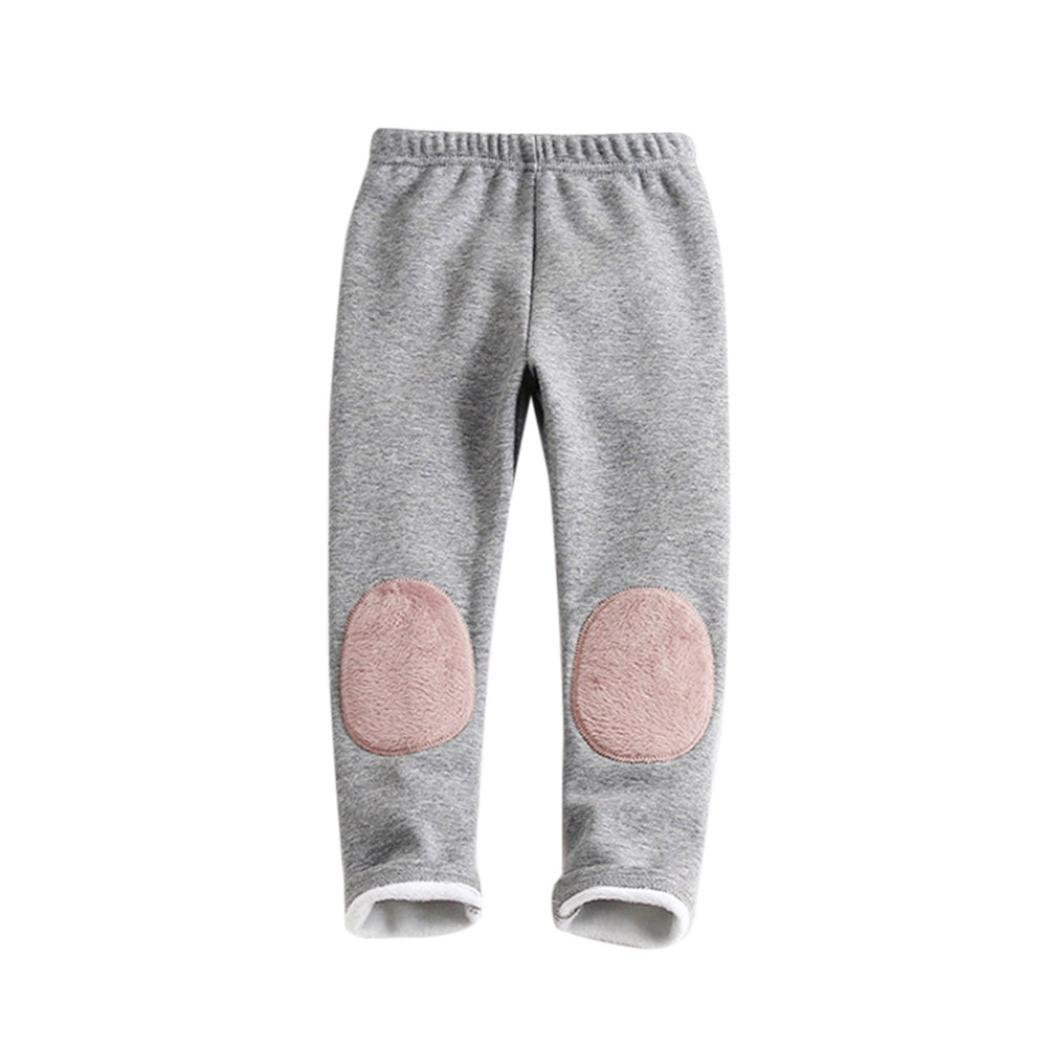 Tenworld Toddler Baby Boys Girls Winter Warm Fleece Jogger Pants Leggings