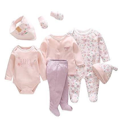 Bebé recién nacido regalo 7 piezas con monos, babero, guantes ...
