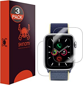 Skinomi Full Body Skin Protector Compatible with Apple Watch Series 6 (44mm)(3-Pack)(Screen Protector + Back Cover) TechSkin Full Coverage Clear HD Film