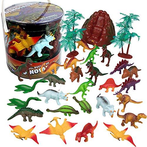 SCS Direct Dinosaur Action Figures - Huge 30 Piece Set of Dinosaur Toy Figurine
