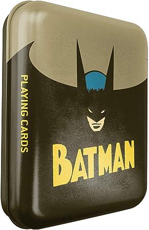 Shuffle DC Comics Batman-Juego de 54 Cartas Vintage con Caja de Metal, 100055440001,: Amazon.es: Juguetes y juegos