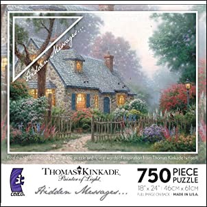 Thomas Kinkade Hidden Messages - Foxglove Cottage
