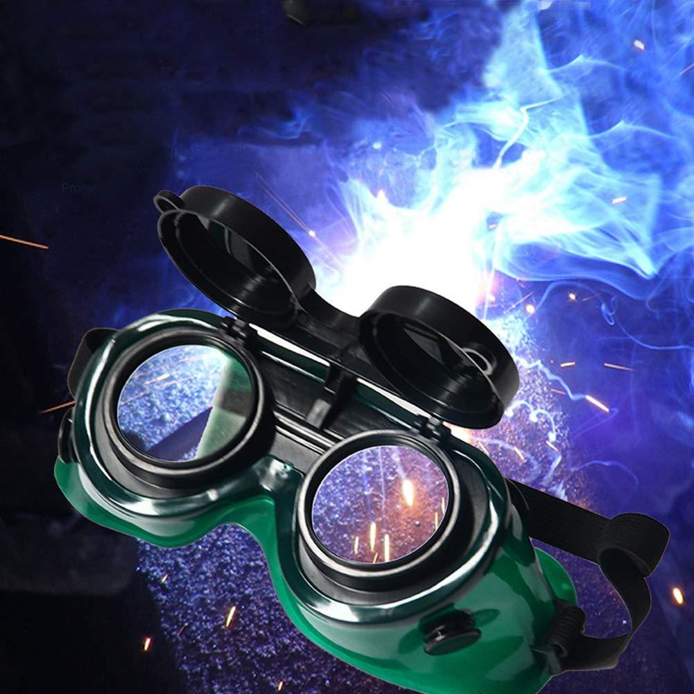 Flip-Up Industrial Cutting Augenschutz Langlebig L/öten Schwei/ßen Brille Hartlot Schutzbrille Soft Frame Zwei Schichten Sicherheitsgl/äser