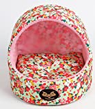 Cheap Warm winter yurt small dog kennel cat litter cat house pet dog kennel (Floral)
