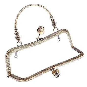 Metall Taschenrahmen Taschenbügel Verschluss Taschengriffe Taschenhenkel Tasche