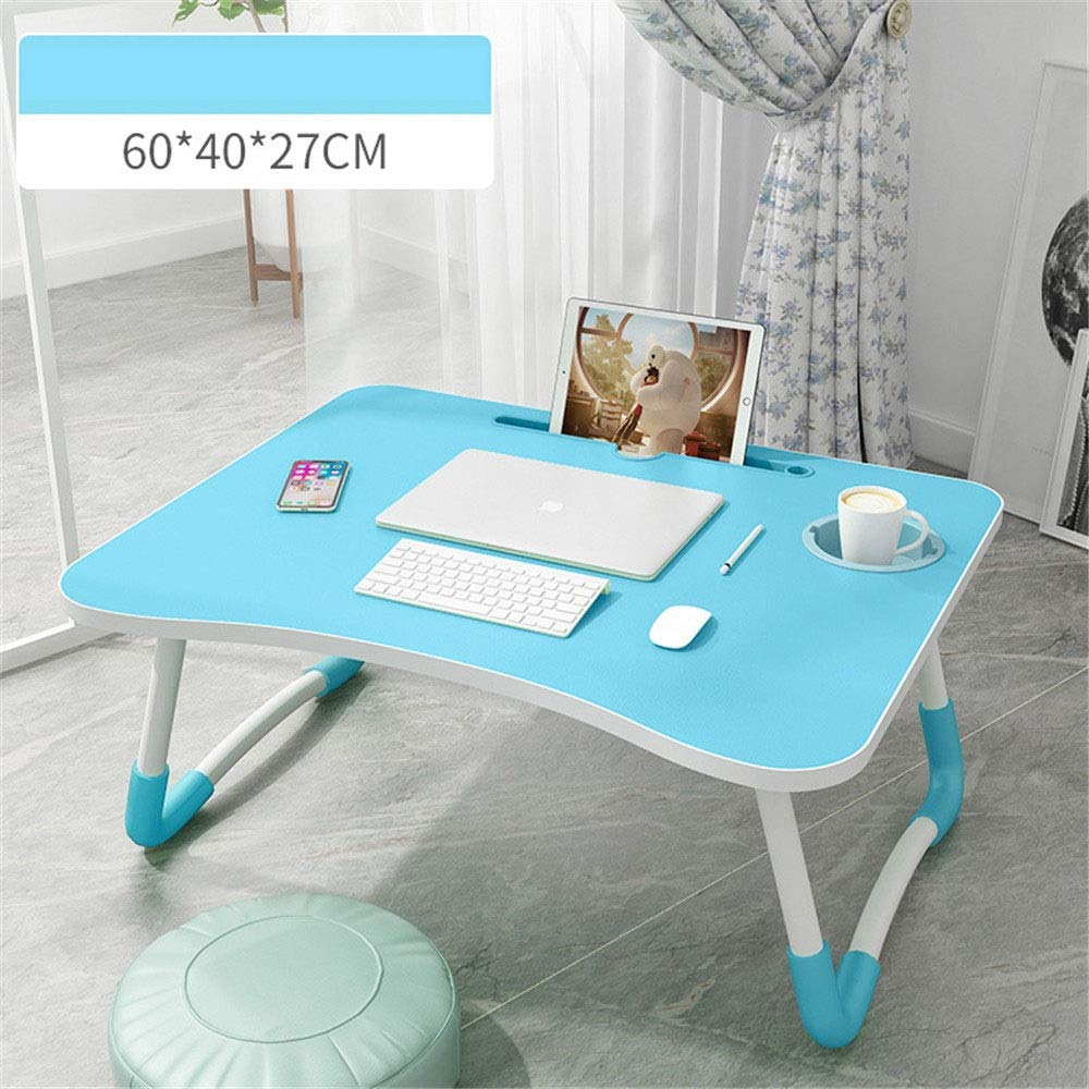 Quisilife Laptop Table, Bed Computer Desk Folding Lift Laptop Table Large Multi-Function Computer Desk Painted Legs Laptop Desk Bed,Laptop Desk (Color : K1, Size : Free)