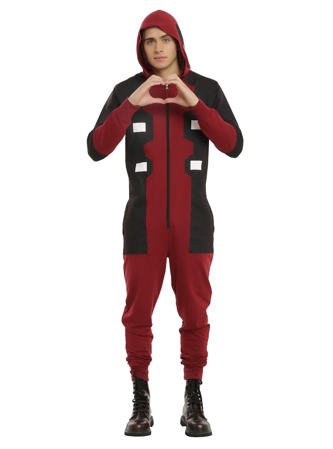 Marvel Deadpool One-Piece Union Suit Cosplay Pajamas