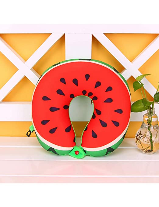 ZTSSE Frutas Sandía Piña Kiwi Almohada En Forma De U Cojín ...