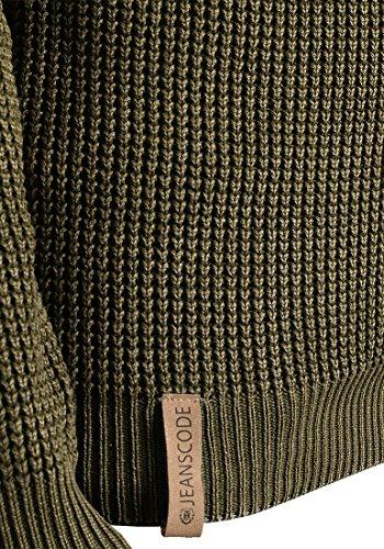 Con Olive 100 Cotone Maglione Maglieria In Uomo 644 Tristen Indicode Collo Pullover Da Dark Alto YAqw1xnpFR