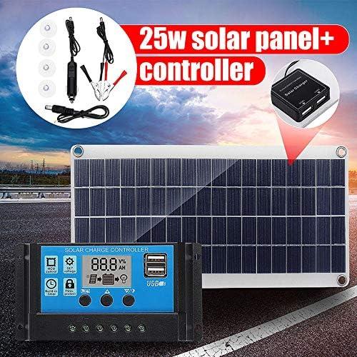 Zhang 25W 12V Solar Panel Dual USB Output-Solarzellen Poly Solar Panel 10A Controller Für Auto Yacht Batterie-Boot-Ladegerät