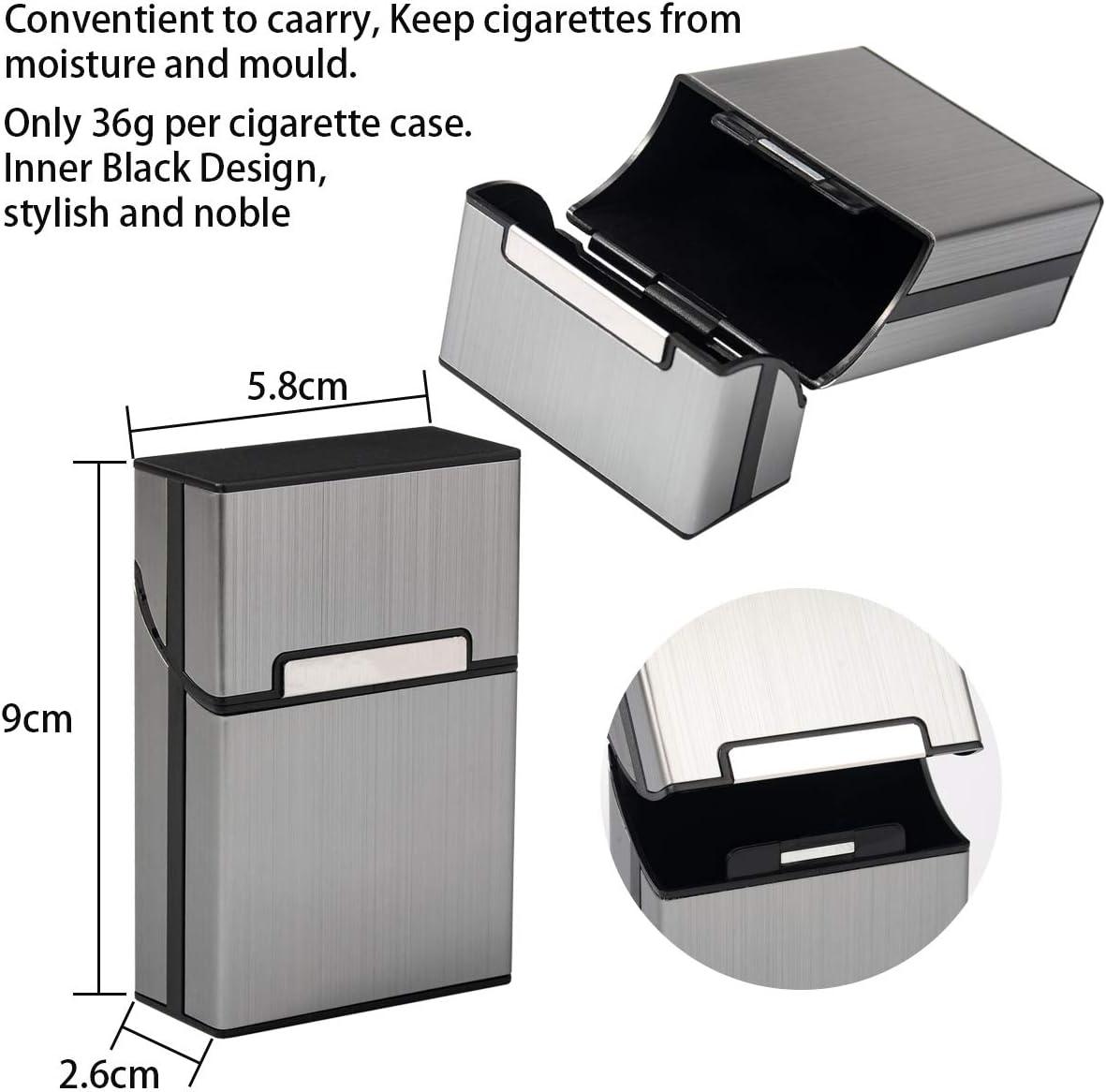 Automatische Regular Gr/ö/ße Zigarettenetui Edelstahl f/ür bis zu 20/Zigarette Zigarettenetui Uni Design