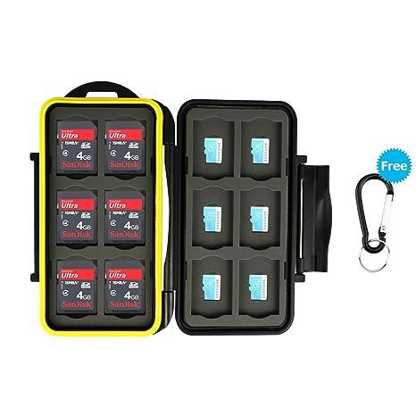 d65a5877ec JJC memory card custodia impermeabilità porta schede di memoria 24 fessura  per 12 SD + 12