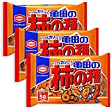 3 Packs Set of Kameda Kakinotane Rice Cracker with Peanuts 6 packs: total 200g (7.05oz) x 3 (Ninjapo Wrapping)