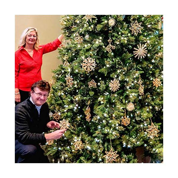 56 pezzi di paglia di decorazione dell'albero di Natale, ciondolo di ornamenti creativi da appendere alle forniture di artigianato natalizio Ornamenti decorativi da appendere 7 spesavip