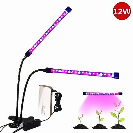 20W LED Pflanzenlampe 60W Dual Kopf Pflanzenleuchte Voll Spektrum Pflanzenlicht