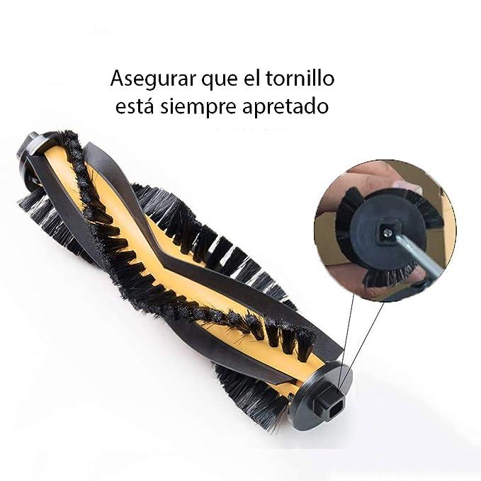 MIRTUX Cepillo Rodillo Central para Conga Excellence 990. Aspiradora Robot cecotec Conga. Accesorios y Repuesto Conga.