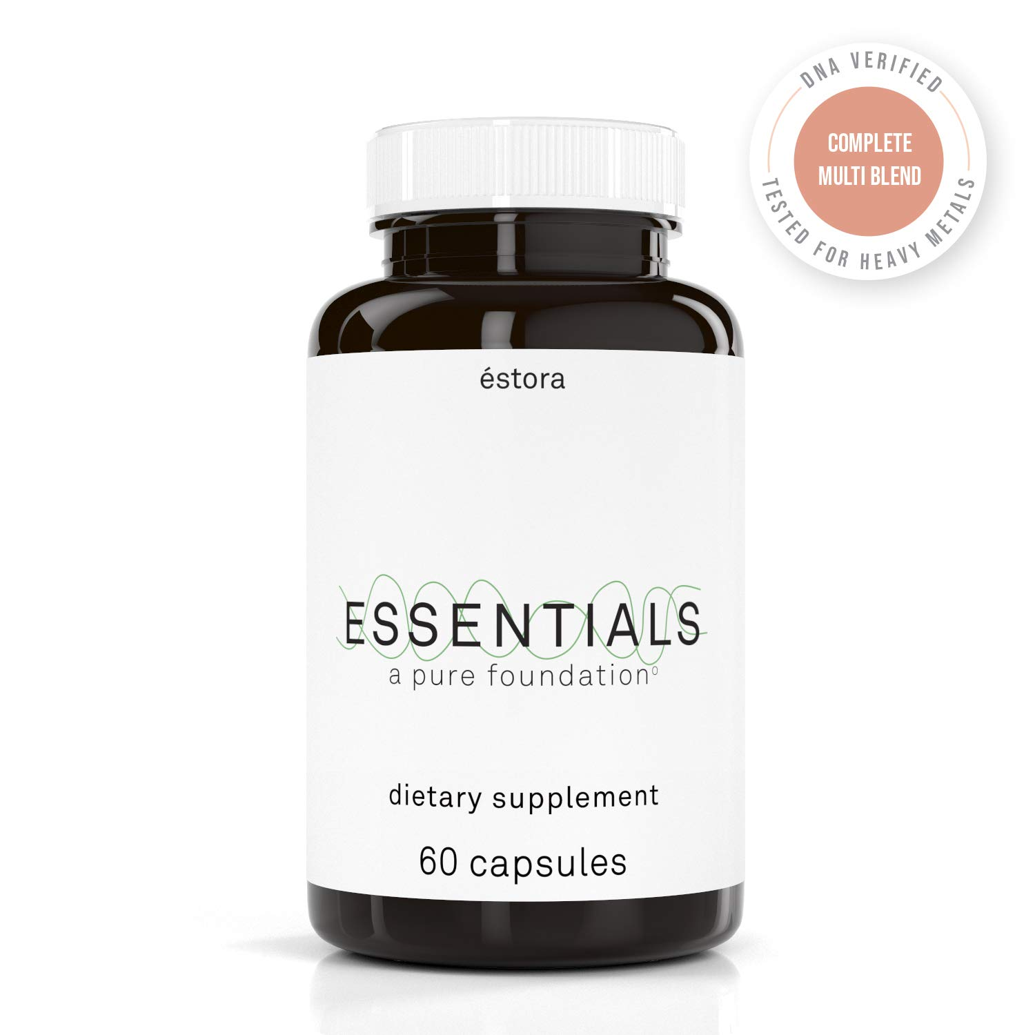 ESTORA Essentials Vegan Multivitamin Supplement 60 Vegetable Capsules