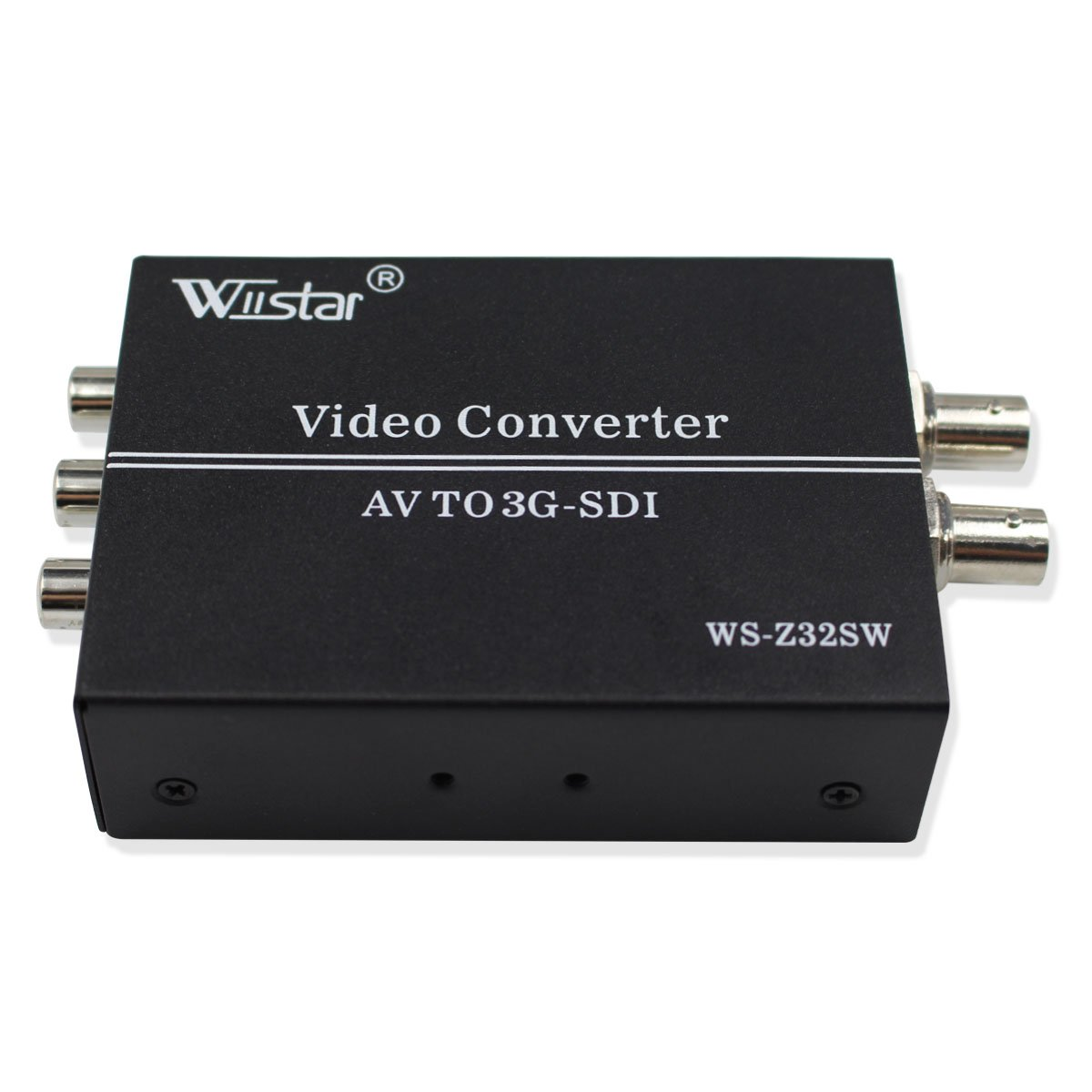 Wiistar AV CVBS to 3G-SDI Audio Video Converter Composite to SDI Converter Support 1080P for CRT HDTV to Camera by Wiistar
