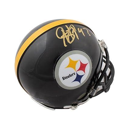 54bca06323e Troy Polamalu Autographed Pittsburgh Steelers Mini Football Helmet - JSA COA