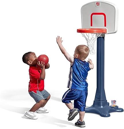 Openuye Kinderrutsche,5 in1 multifunktionale Kleinkinderrutsche mit Basketballkorb,Fu/ßballtor,Schaukel Rosa Kletterturm,f/ür Kinder ab 2 Jahren