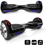 CHO Electric Self Balancing Dual Motors Scooter Hoverboard With Built-In Bluetooth Speaker and LED Lights - UL2272 Certified