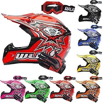 Casco de motocross para niños Wulfsport Cub, más gafas ...