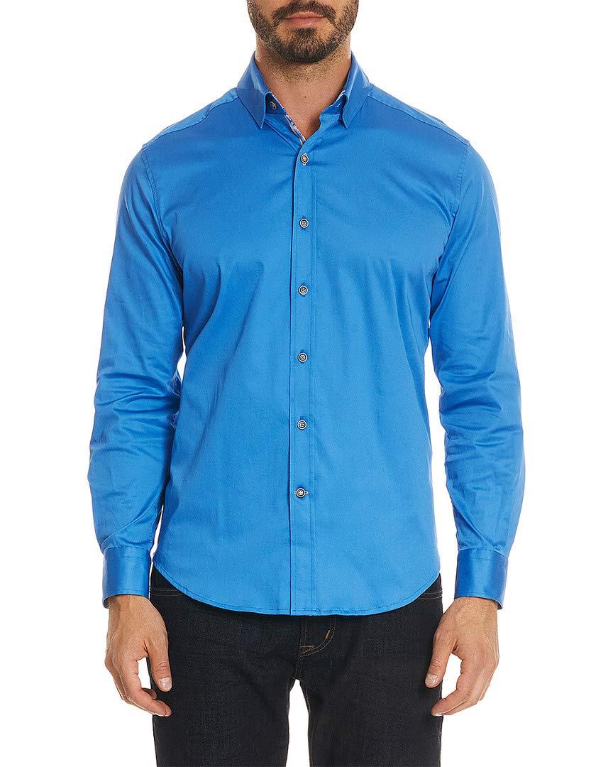 Robert Graham Men's Modern Americana Caruso Long Sleeve Woven Shirt Navy Small