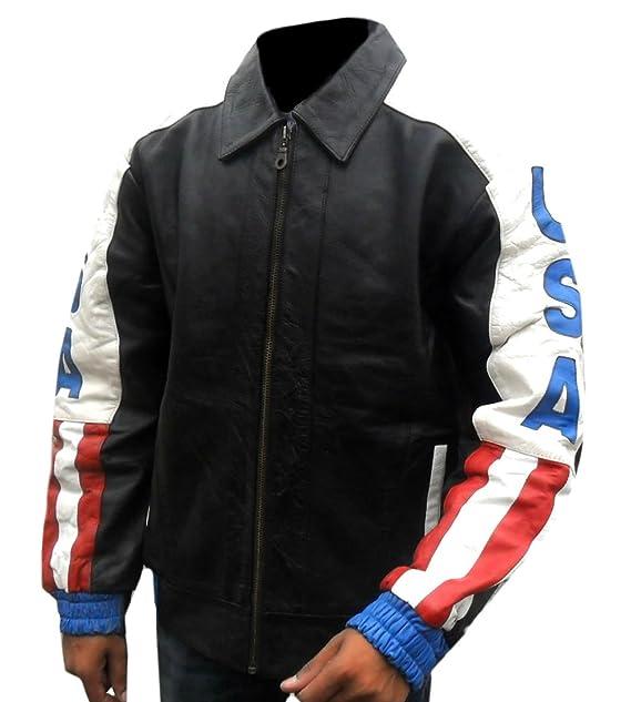 Hombres La De Unidos Para Bandera Moto Chaqueta Classyak Estados c4jR3ALq5S