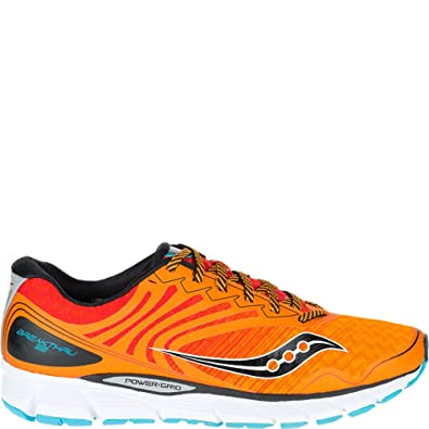 Saucony Men's Breakthru 2 Running Shoe, OrangeRedBlue, 12