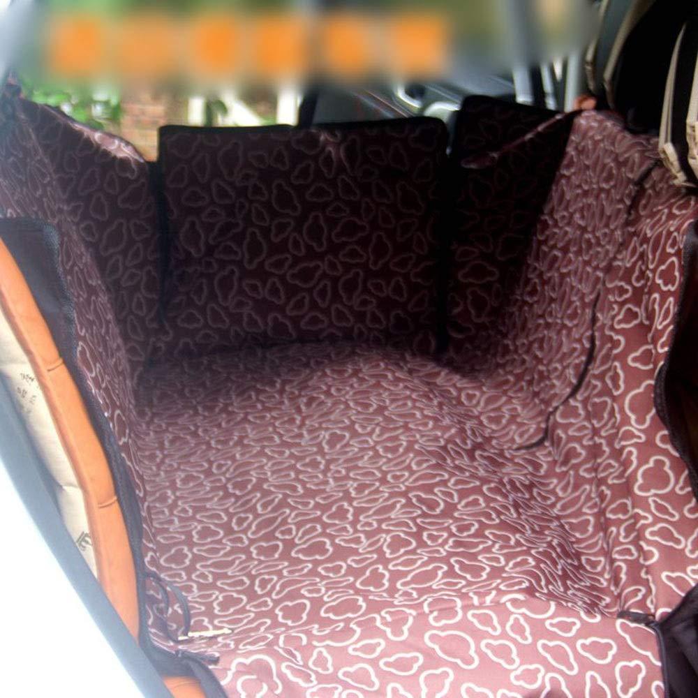 Brown 14012043cm Brown 14012043cm FELICIOO Pet Car Mat Car Dog Cushion Waterproof Pet Car Mat (color   Brown, Size   140  120  43cm)