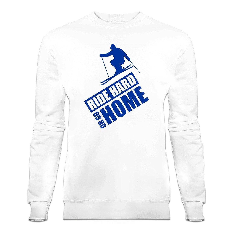 Ride Hard Or Go Home Ski Sweatshirt by Shirtcity