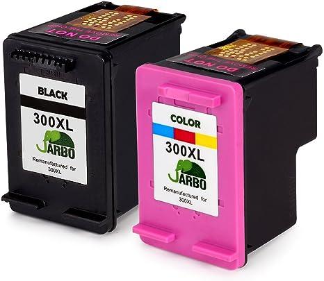 JARBO Remanufacturado HP 300 XL Cartuchos de tinta (1 Negro, 1 ...