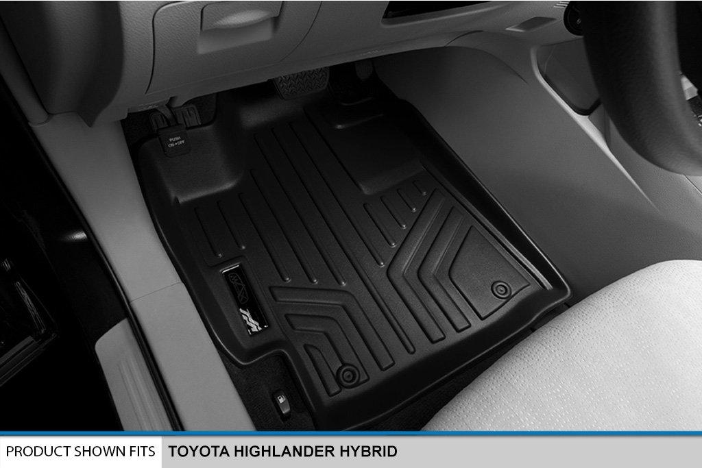Black MAXLINER A0037//B0037//C0037 Floor Mats for Toyota Highlander Hybrid 3 Row Set 2008-2013