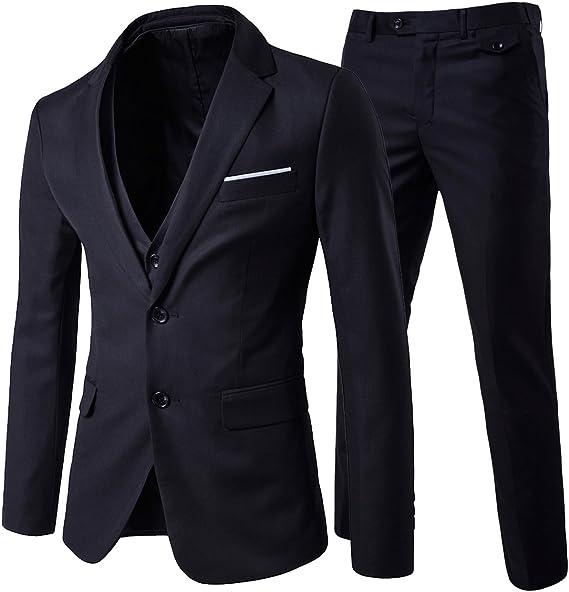 Amazon.com: Cloudstyle - Traje formal de boda para hombre, 3 ...
