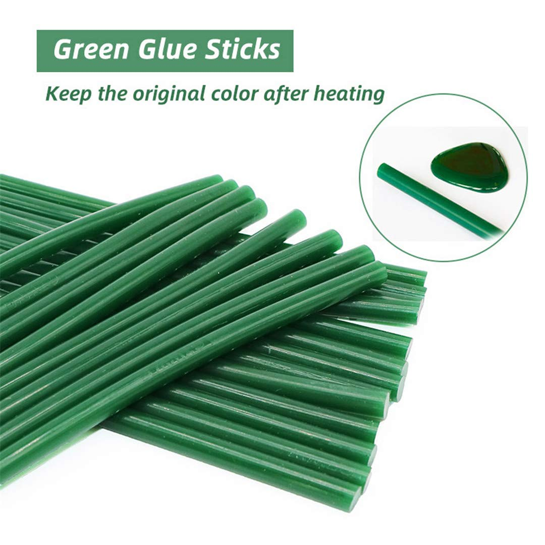 Green Glue Sticks 20Pcs 7X200mm Hot Melt Glue Sticks 7Mm Diameter Hot Gun Glue Home DIY Industrial Hot Sticks 7mm 200mm