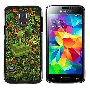 TaiTech / Prima Delgada SLIM Casa Carcasa Funda Case Bandera Cover Armor Shell PC / Aliminium - Modelo Retro Gaming - Samsung Galaxy S5 Mini, SM-G800