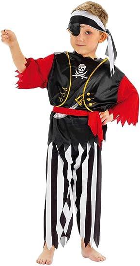 Folat - Disfraz de pirata para niño, talla M (21680 21681): Amazon ...