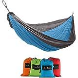 HomEco Single Camping Hammocks (4 colors), Lightweight Nylon Parachute Multifunctional Travel Hammock