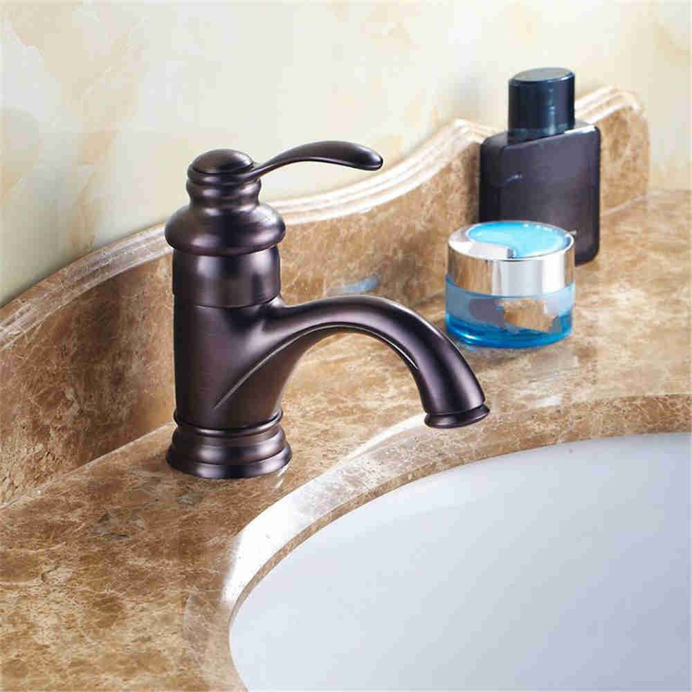 C The brass faucets full copper single hole faucet antique high quality basin faucet, D.