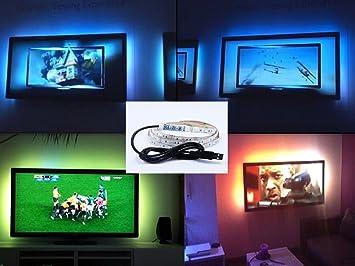Amazoncom Usb Led Light 2m65ft Smd5050 Rgb Led Strip Lights