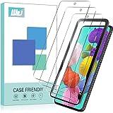 [3-Pack] WRJ Screen Protector for Samsung Galaxy A51,[Easy Installation Frame] HD Anti-Scratch Anti-Fingerprint No-Bubble 9H
