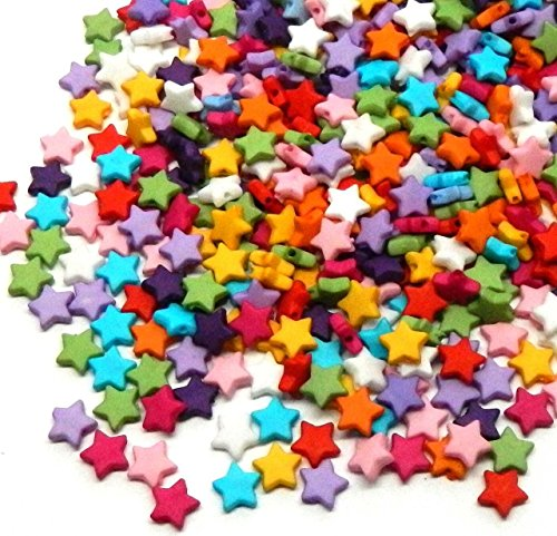 Mm Star Spacer 7 (Rockin Beads Brand, 1000 Mixed Acrylic Star Spacer Beads 9mm Round Sold Per Pack of 1000)