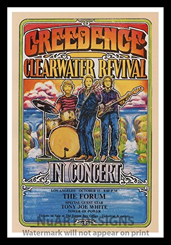 Amazon com: Framed Vintage Rock 'n' Roll Reproduction Poster