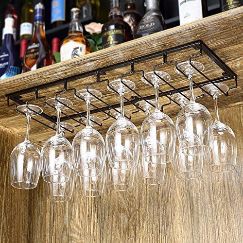 wgx wine glass rack glasses holder under cabinet great hanger organizer hanging bar glass rack 6 slots