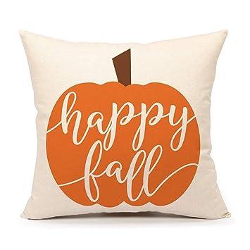 Amazon.com: 4TH Emotion Happy Fall - Funda de cojín para ...
