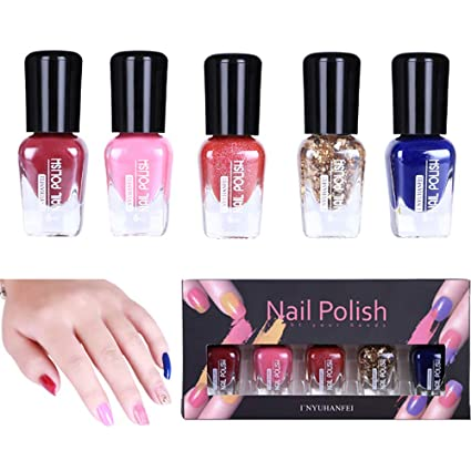 Amazon.com : (5 Pack) Womens Nail Polish Clearance - Iuhan Women 5Pcs Nail Art Template Stamp Stamping Painting Varnish Polish Manicure Design Big ...