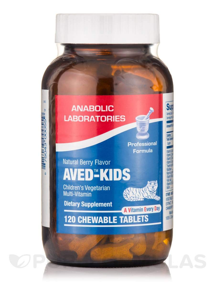 Anabolic Laboratories AVED KIDS Berry flavor Chewable MULTIVITAMIN 120 TAB
