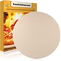 JulyPanny Pizza Stone, 15€ Ceramic Pizza Grilling Stone/Baking Stone, Perfect Baking Tools for BBQ and Grill - Thermal Shock Resistant, Durable and Safe Pizza Pan