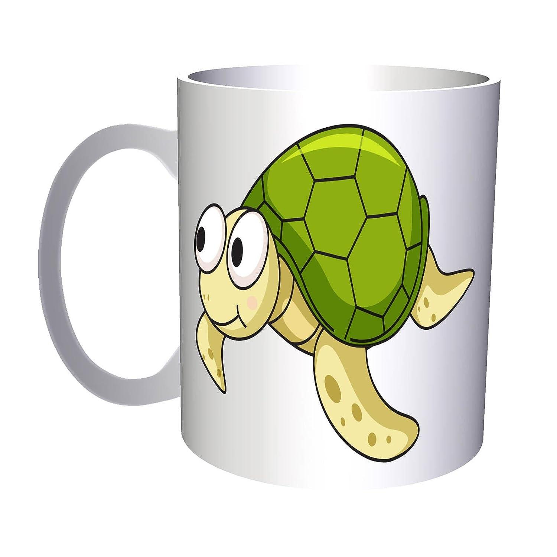 Tortuga smiley dibujos animados feliz animación 330 ml taza g721: Amazon.es: Hogar